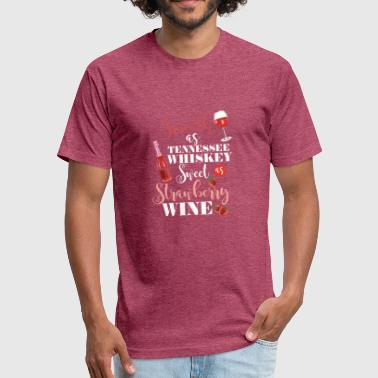 Whiskey Wine Wine Smooth as Tennesee Whiskey - Fitted Cotton/Poly T-Shirt by Next Level
