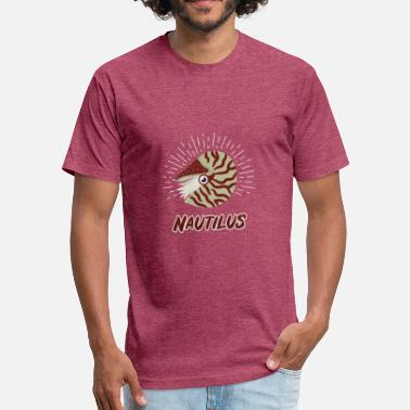 Primeval Times Nautilus Ocean animal primeval times - Fitted Cotton/Poly T-Shirt by Next Level