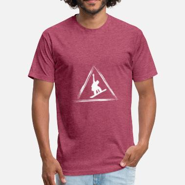 Snowboarder Snowboarding - Fitted Cotton/Poly T-Shirt by Next Level