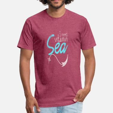 Vitamin Jokes I Need Vitamin Sea - Fitted Cotton/Poly T-Shirt by Next Level