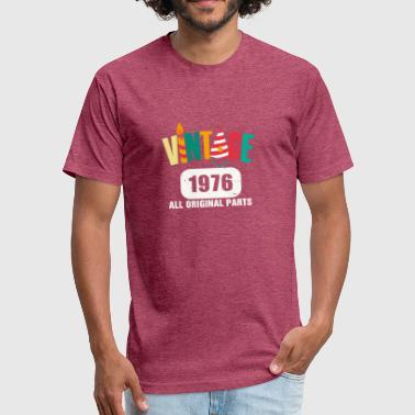 1976 All Original Parts Vintage 1976 All Original Parts - Fitted Cotton/Poly T-Shirt by Next Level
