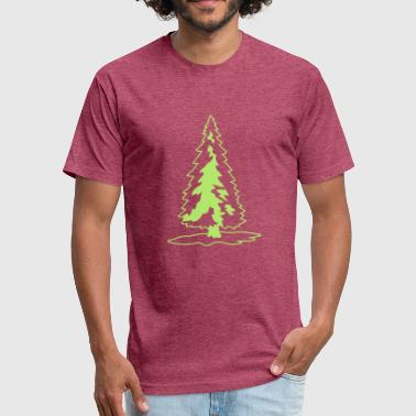 white green christmas tree christmas nicholas wint - Fitted Cotton/Poly T-Shirt by Next Level
