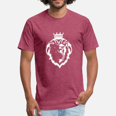 Lion Crown Reading royals - Fitted Cotton/Poly T-Shirt by Next Level