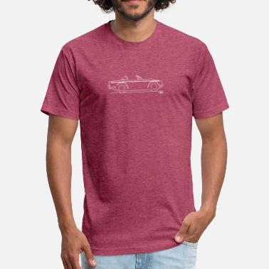 Surrey Original sketch Triumph TR4a Surrey top - Fitted Cotton/Poly T-Shirt by Next Level