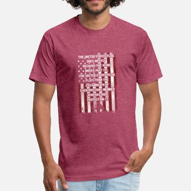 Military Honor Honoring the Military - Fitted Cotton/Poly T-Shirt by Next Level