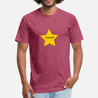 Participation I Farted Gold Star - Fitted Cotton/Poly T-Shirt by Next Level