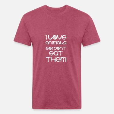 ec3326c9f vegan t shirt I love animals so i don t eat them Men's Premium T ...