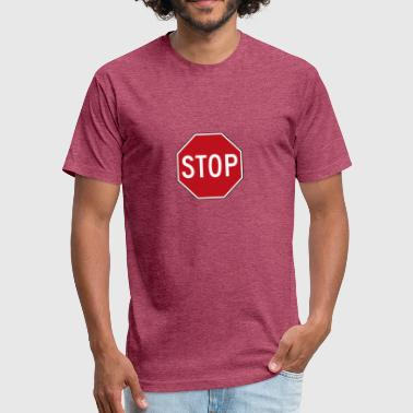 Stop Caring Stop - Fitted Cotton/Poly T-Shirt by Next Level