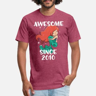2010 awesome since 2010 girls Birthday tshirt - Unisex Poly Cotton T-Shirt