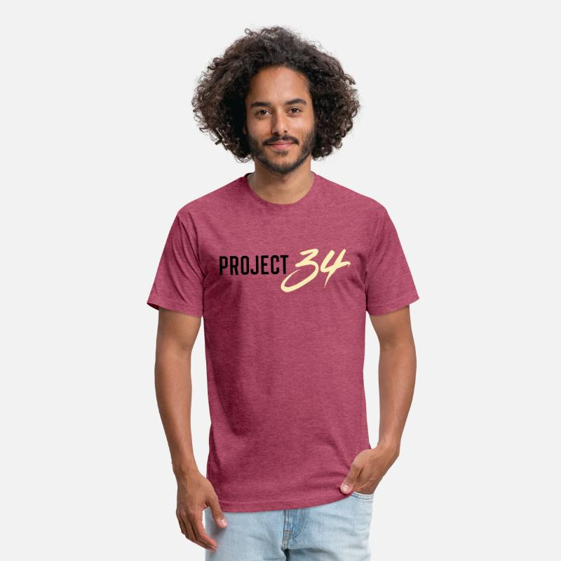 Project T-Shirts - Project 34 - Phoenix - Unisex Poly Cotton T-Shirt heather burgundy