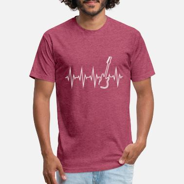 Bass Line Pulse Line Bass For Bass Player And Music Lover wh - Unisex Poly Cotton T-Shirt