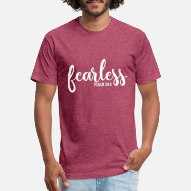bc16a0f0b2 Fearless Fearless Psalm 34:4, Christian, Bible Verse - Unisex Poly Cotton T