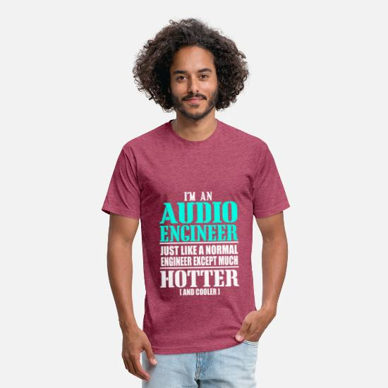 Audio T-Shirts - AUDIO ENGINEER - Unisex Poly Cotton T-Shirt heather burgundy