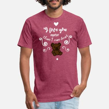 I love you more than I can bear - Unisex Poly Cotton T-Shirt