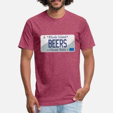 Plate RI License Plate Series - BEERS - Unisex Poly Cotton T-Shirt