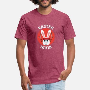 2bb1f8b910 Funny Easter T Shirt Easter Ninja Easter Bunny N - Unisex Poly Cotton T- Shirt