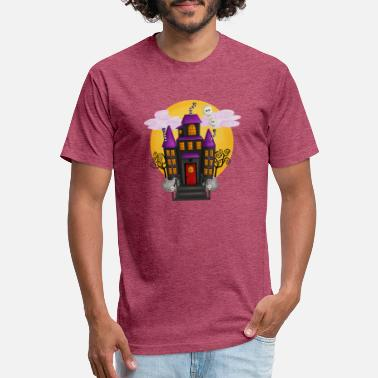 Haunted Haunted House Halloween - Unisex Poly Cotton T-Shirt