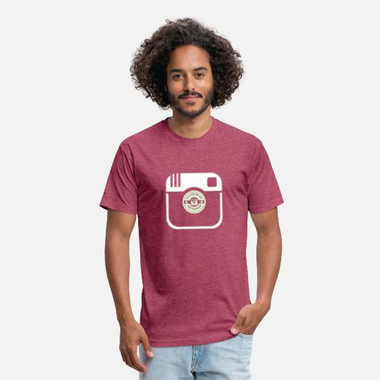 Instagram T-Shirts - Promote - Unisex Poly Cotton T-Shirt heather burgundy
