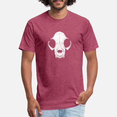Pointillism New Design Cat Skull Pointillism Best Seller - Fitted Cotton/Poly T-Shirt by Next Level