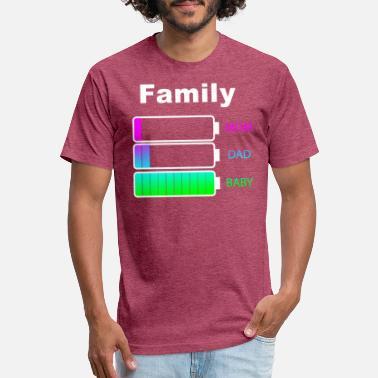 eb9608276 Sayings Family Family Mom Dad Baby saying Battery Indicator - Unisex Poly  Cotton T-Shirt