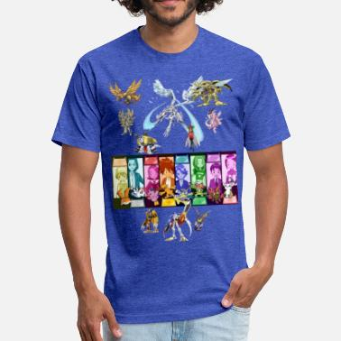 Digimon Legacy - Fitted Cotton/Poly T-Shirt by Next Level