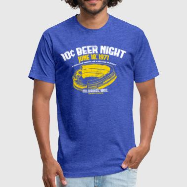 10 Cent 10 CENT BEER NIGHT - Fitted Cotton/Poly T-Shirt by Next Level