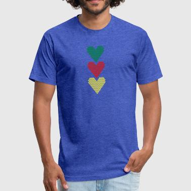 Love With Heart Love Love Love Heart Heart Heart - Fitted Cotton/Poly T-Shirt by Next Level