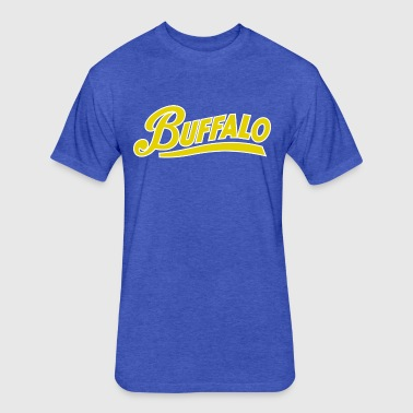 Buffalo Throwback - Fitted Cotton/Poly T-Shirt by Next Level