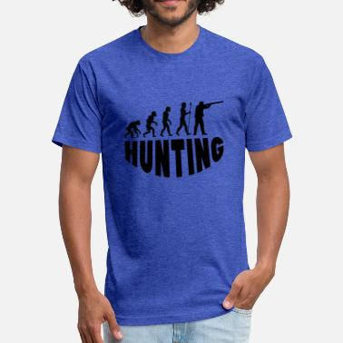 Evolution Of Hunting Hunting Evolution - Fitted Cotton/Poly T-Shirt by Next Level