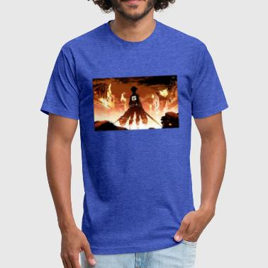 Attack of the titan - Fitted Cotton/Poly T-Shirt by Next Level