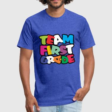 Team First Grade - Fitted Cotton/Poly T-Shirt by Next Level