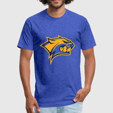 tiger sport logo - Fitted Cotton/Poly T-Shirt by Next Level