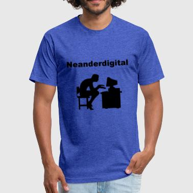 Homo Back Neanderdigitaler - Fitted Cotton/Poly T-Shirt by Next Level