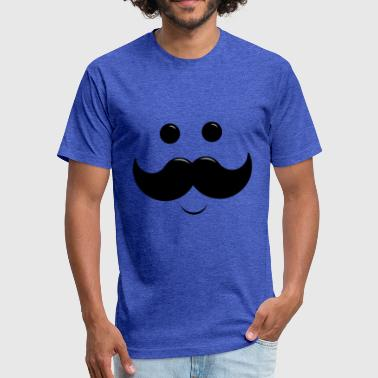 Daddy Moustache - Fitted Cotton/Poly T-Shirt by Next Level