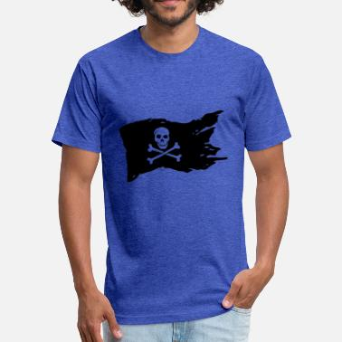 Dark Net Pirates Flag - Fitted Cotton/Poly T-Shirt by Next Level