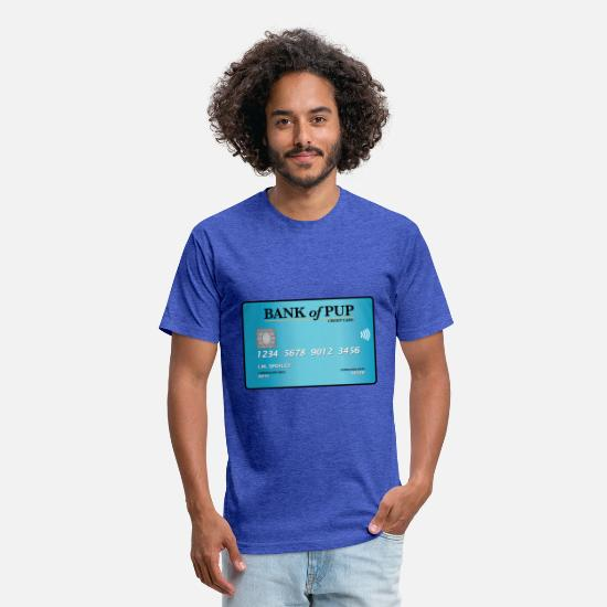 Father's Day T-Shirts - Bank of Pup - Unisex Poly Cotton T-Shirt heather royal