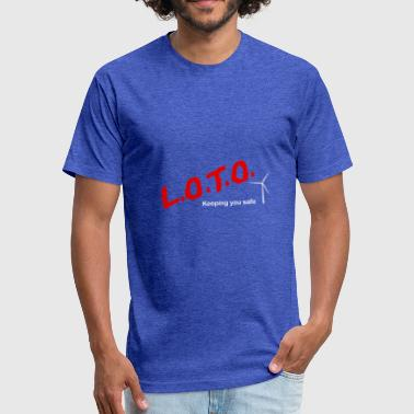 LOTO Ge Safety - Fitted Cotton/Poly T-Shirt by Next Level