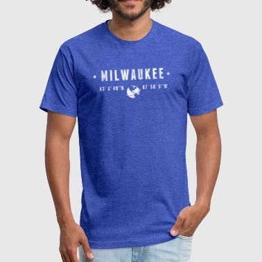 Milwaukee - Fitted Cotton/Poly T-Shirt by Next Level