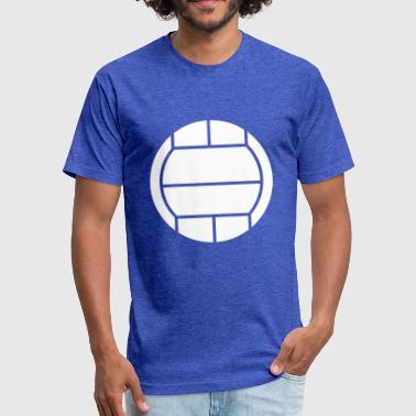 Volleyball Ball - Fitted Cotton/Poly T-Shirt by Next Level