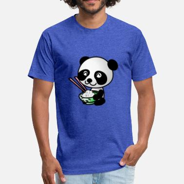Happy Panda Happy Panda - Fitted Cotton/Poly T-Shirt by Next Level