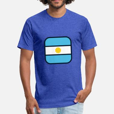 Ramdas argentina flag - Fitted Cotton/Poly T-Shirt by Next Level