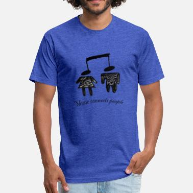 Connecting People Music connects people - Fitted Cotton/Poly T-Shirt by Next Level