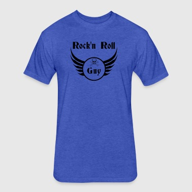 Rock and roll guy - Fitted Cotton/Poly T-Shirt by Next Level