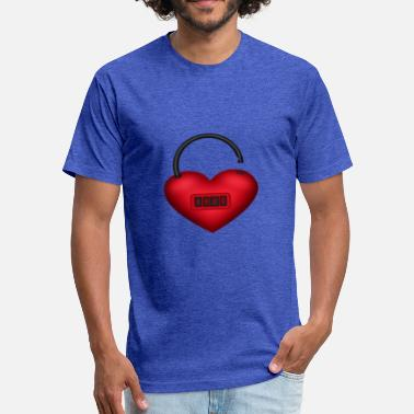Locked Heart Heart lock - Fitted Cotton/Poly T-Shirt by Next Level