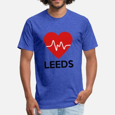 Leeds Heart Leeds - Fitted Cotton/Poly T-Shirt by Next Level
