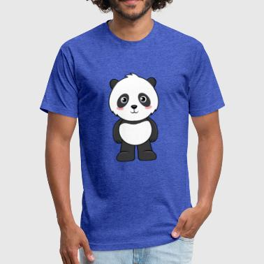 Cute Cartoon Animals - Panda - Fitted Cotton/Poly T-Shirt by Next Level