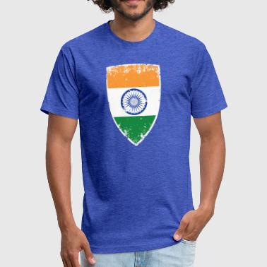 Flag India Flag of India - Fitted Cotton/Poly T-Shirt by Next Level