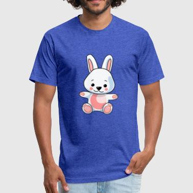 rabbit comic draw - Fitted Cotton/Poly T-Shirt by Next Level