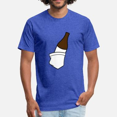 Ok Cool bottle beer alcohol glass drink party celebrate ok - Fitted Cotton/Poly T-Shirt by Next Level