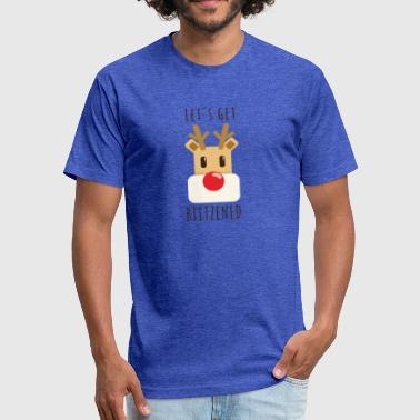 Red Nosed Reindeer Rudolf red-nosed reindeer - Fitted Cotton/Poly T-Shirt by Next Level